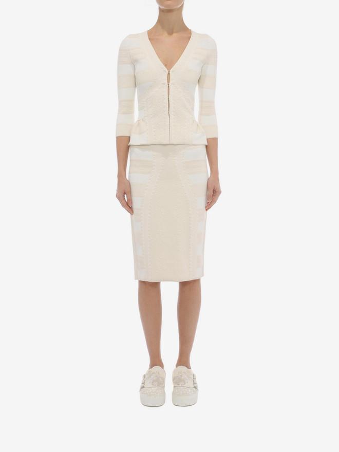 ALEXANDER MCQUEEN 3/4 Sleeve V-Neck Cardigan Knitwear Woman r