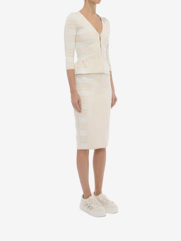 ALEXANDER MCQUEEN 3/4 Sleeve V-Neck Cardigan Knitwear Woman d