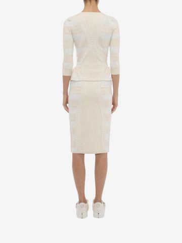 ALEXANDER MCQUEEN 3/4 Sleeve V-Neck Cardigan Knitwear Woman e