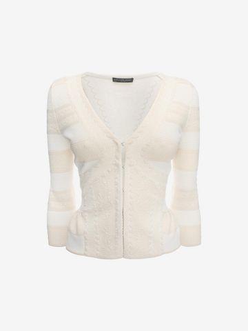 ALEXANDER MCQUEEN 3/4 Sleeve V-Neck Cardigan Knitwear Woman f