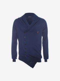 ALEXANDER MCQUEEN Cardigan U Fine Cashmere Asymmetric Cardigan f