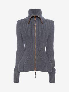 ALEXANDER MCQUEEN Knitwear D Knitted Peplum Jacket f