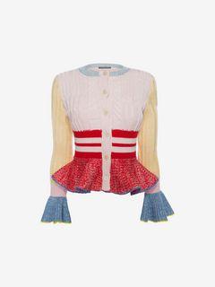 ALEXANDER MCQUEEN Knitwear D Peplum Knit Jacket f