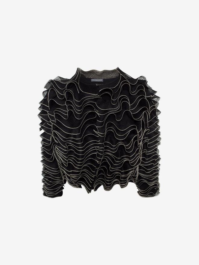 ALEXANDER MCQUEEN Frill Cardigan Knitwear D f