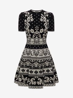 ALEXANDER MCQUEEN Mini Dress D Floral Jacquard Mini Dress f