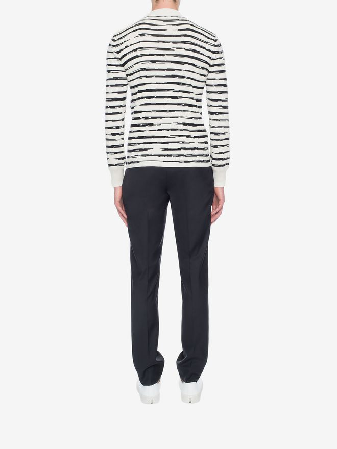ALEXANDER MCQUEEN Striped Wool Rib Jumper Jumper Man e
