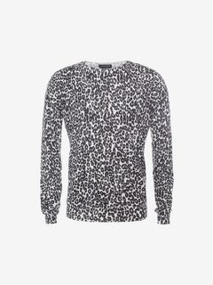ALEXANDER MCQUEEN Jumper U Leopard Print Jumper f