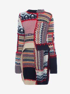 ALEXANDER MCQUEEN Knitwear D Patchwork Knit Jumper f