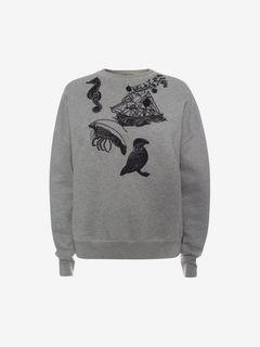 ALEXANDER MCQUEEN Knitwear D Embroidered Sweatshirt f