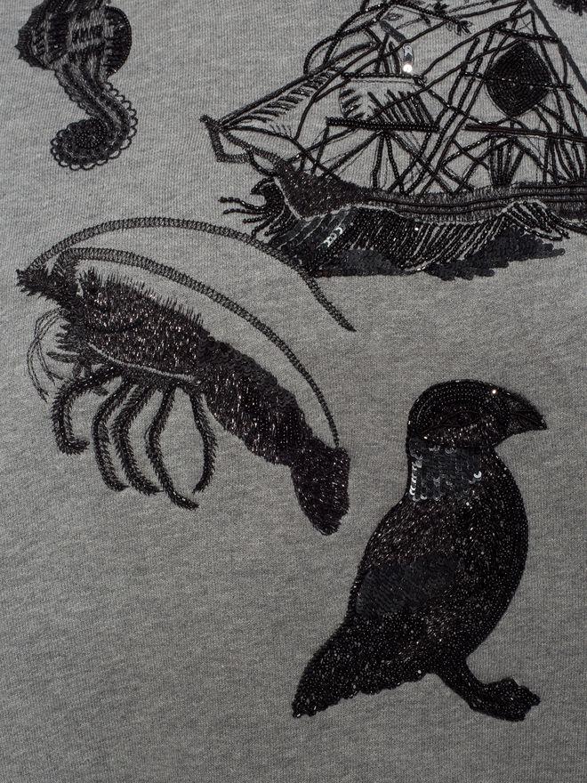 ALEXANDER MCQUEEN Embroidered Sweatshirt Knitwear D a