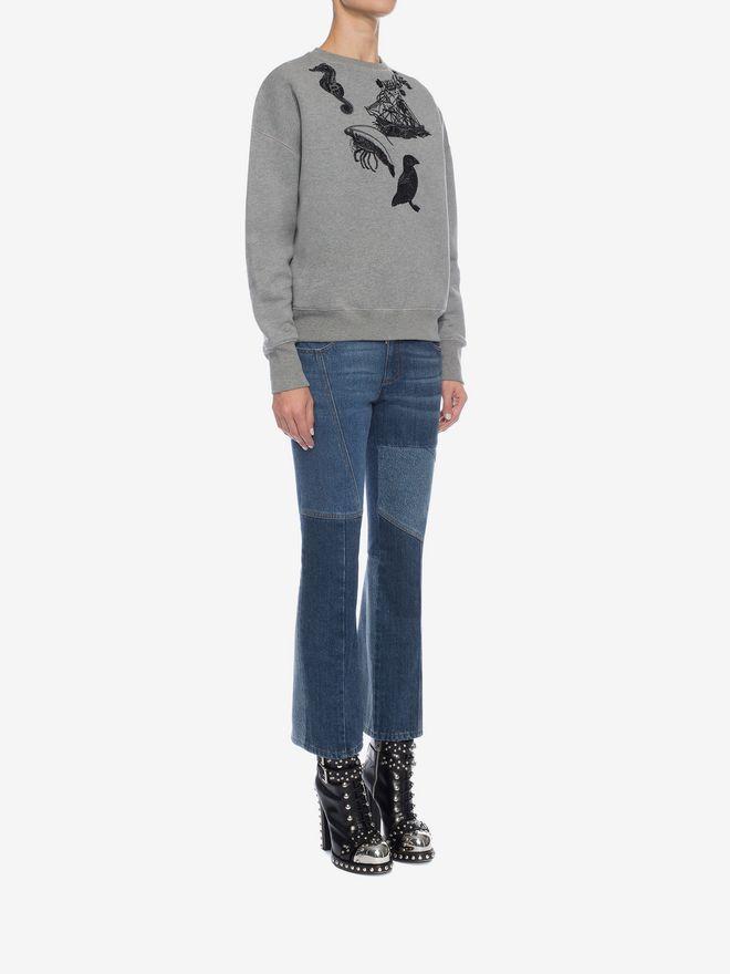 ALEXANDER MCQUEEN Embroidered Sweatshirt Knitwear D d