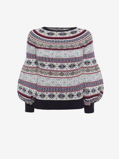 ALEXANDER MCQUEEN Knitwear D Puffed Sleeved Jacquard Jumper f