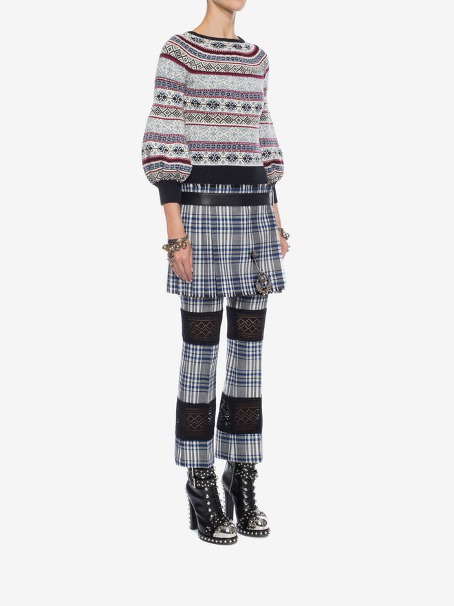 ALEXANDER MCQUEEN Puffed Sleeved Jacquard Jumper Knitwear D d