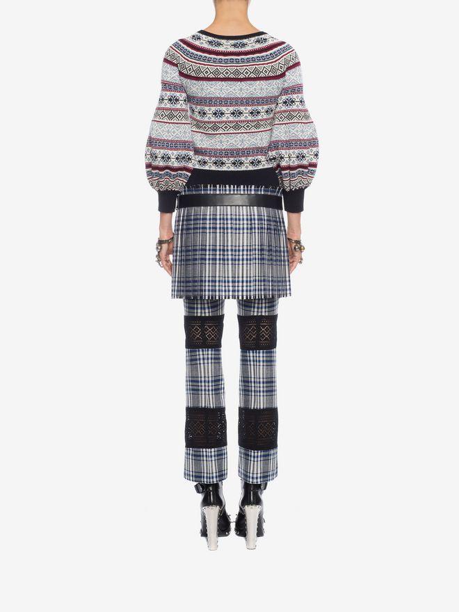ALEXANDER MCQUEEN Puffed Sleeved Jacquard Jumper Knitwear D e