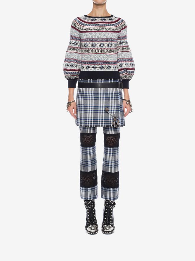 ALEXANDER MCQUEEN Puffed Sleeved Jacquard Jumper Knitwear D r