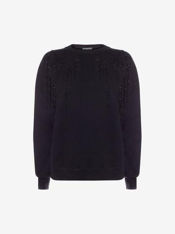 ALEXANDER MCQUEEN Embroidered Sweatshirt Knitwear D f