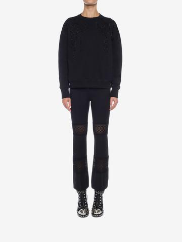 ALEXANDER MCQUEEN Embroidered Sweatshirt Knitwear D r