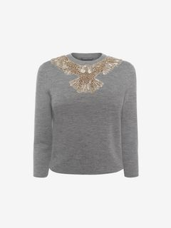 ALEXANDER MCQUEEN Jumper D Eagle Embroidered Jumper f