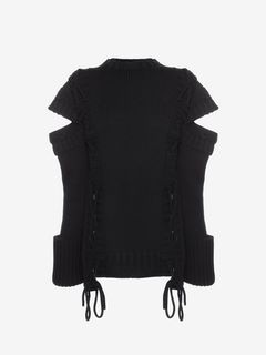 ALEXANDER MCQUEEN セーター D Slashed Shoulder Jumper f