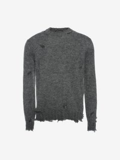 ALEXANDER MCQUEEN Jumper U Distressed Mohair Sweater f