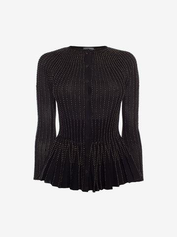 ALEXANDER MCQUEEN Knit Peplum Cardigan Cardigan Woman f ...