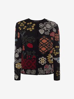ALEXANDER MCQUEEN Cardigan D Cardigan in Jacquard con Samplers f