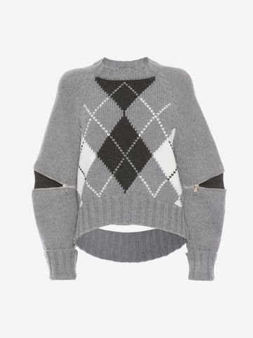 ALEXANDER MCQUEEN Slashed Detail Knitted Jumper Jumper D f