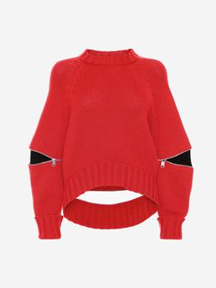 ALEXANDER MCQUEEN Jumper Woman Slashed Detail Knitted Jumper f