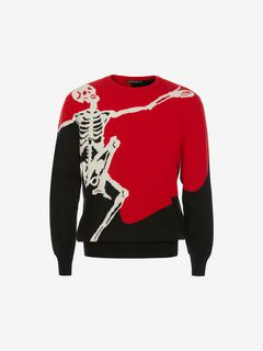 ALEXANDER MCQUEEN Jumper Man Dancing Skeleton Sweater f