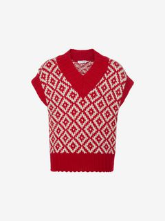 ALEXANDER MCQUEEN Jumper Man Chunky-Knit Sweater f