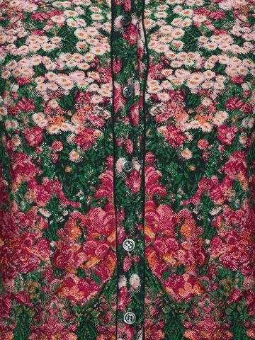 ALEXANDER MCQUEEN Flowerbed jacquard knit peplum cardigan Cardigan Woman a