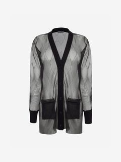 ALEXANDER MCQUEEN Cardigan Woman Sheer Cable Knit Cardigan f