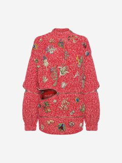 ALEXANDER MCQUEEN Jumper Woman Embroidered Oversized Sweater f