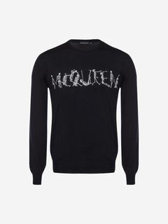 ALEXANDER MCQUEEN Jumper Man Dancing Skeleton McQueen Crew Neck Sweater f