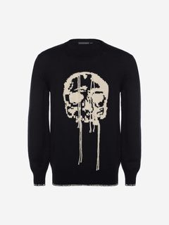 ALEXANDER MCQUEEN Jumper Man Skull Crew Neck Sweater f