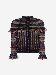 ALEXANDER MCQUEEN Cardigan Woman Sheer Knit Cardigan f