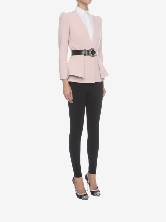 ALEXANDER MCQUEEN Folded Peplum Jacket Tailored Jacket D d