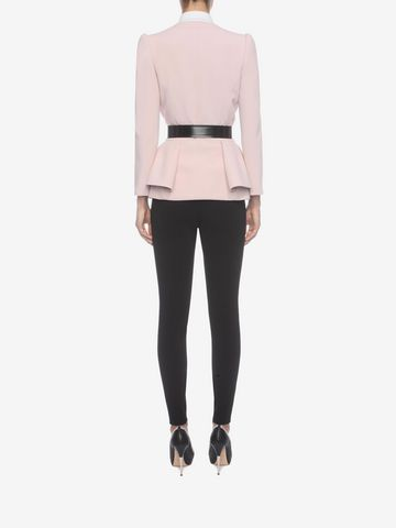 ALEXANDER MCQUEEN Folded Peplum Jacket Tailored Jacket D e