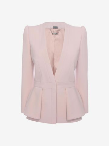 ALEXANDER MCQUEEN Folded Peplum Jacket Tailored Jacket D f