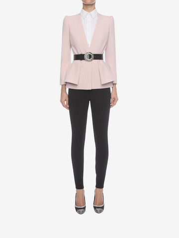 ALEXANDER MCQUEEN Folded Peplum Jacket Tailored Jacket D r