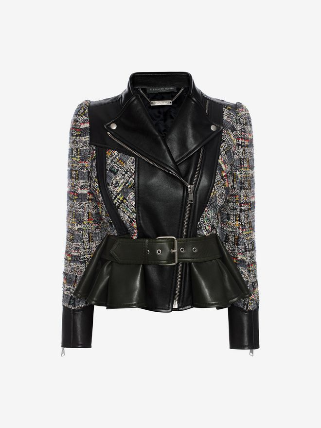 ALEXANDER MCQUEEN Leather Jacket Jacket D f