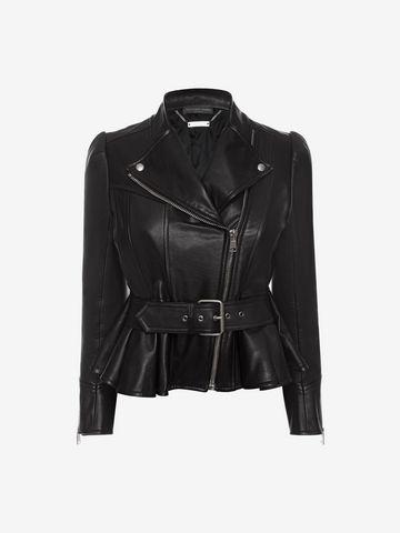 ALEXANDER MCQUEEN Leather Jacket Jacket D f