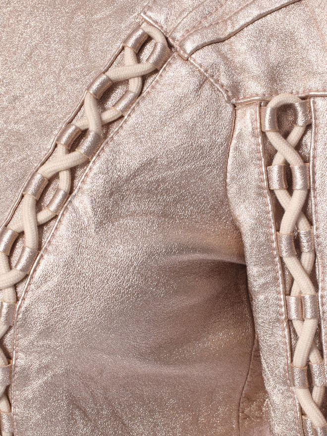 ALEXANDER MCQUEEN Washed Metallic Leather Jacket  Jacket D a