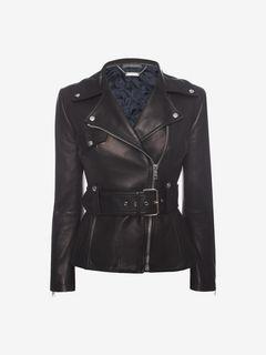 ALEXANDER MCQUEEN Jacket D Lambskin Leather Jacket f