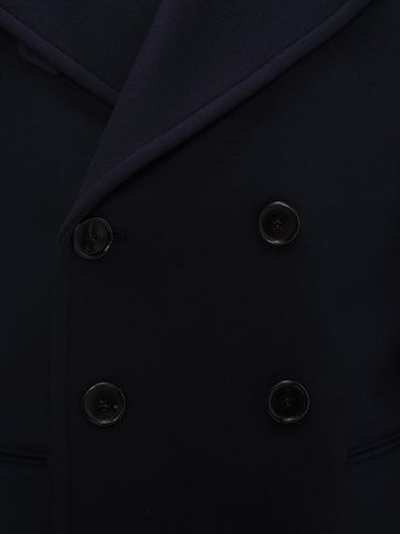 ALEXANDER MCQUEEN Wool Cashmere Classic Peacoat Coat U a