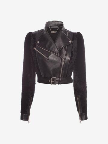 ALEXANDER MCQUEEN Lambskin Leather Jacket Jacket D f