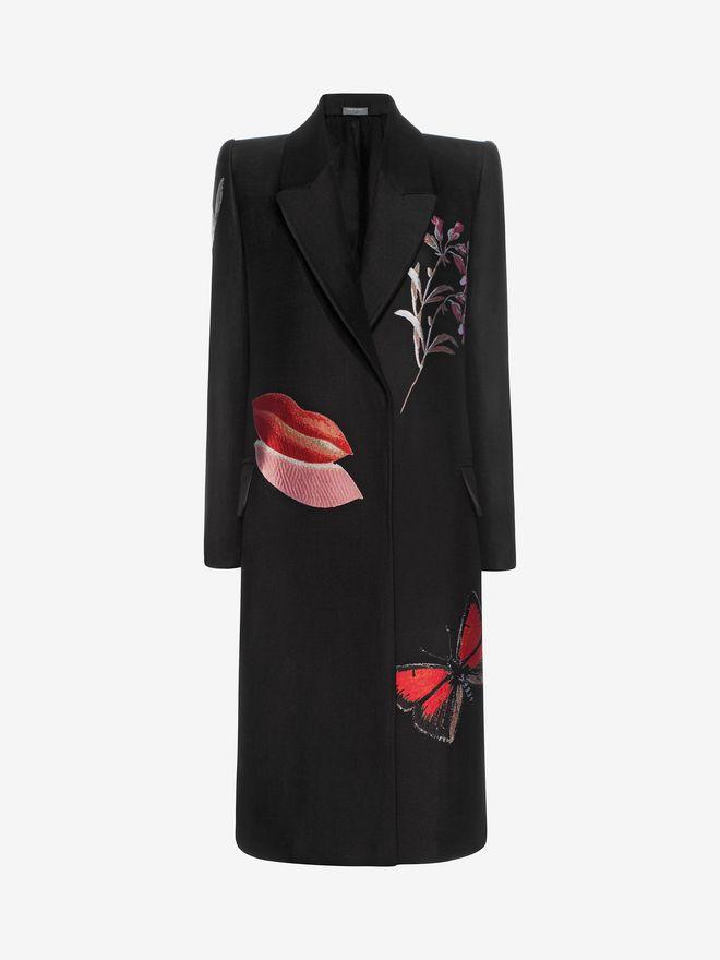 ALEXANDER MCQUEEN Vanity Obsession Jacquard Coat Coat D f