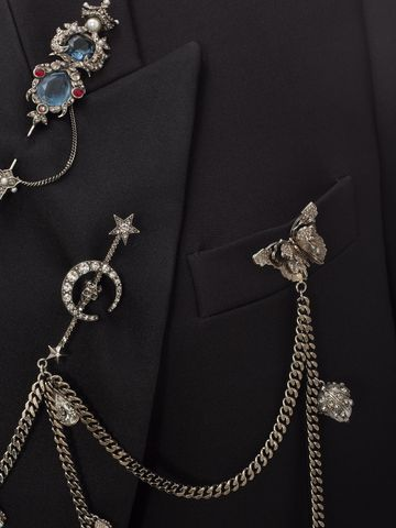 ALEXANDER MCQUEEN Double Breasted Charm Tuxedo Jacket Jacket D a