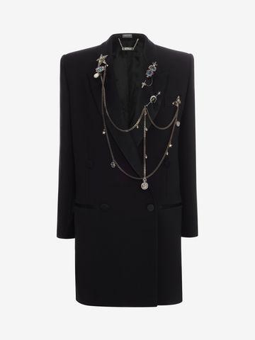 ALEXANDER MCQUEEN Double Breasted Charm Tuxedo Jacket Jacket D f