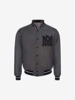 ALEXANDER MCQUEEN Bomber Jacket U Embroidered AMQ Signature Blouson Jacket f